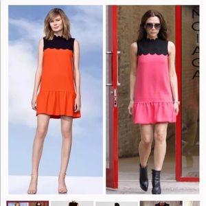 Victoria Beckham Target Scalloped Drop Waist Dress
